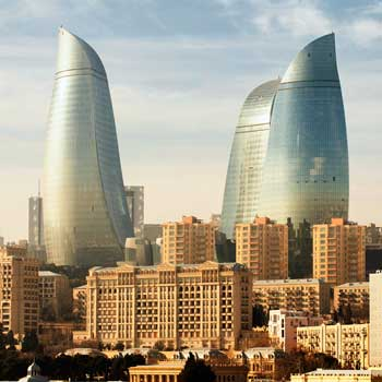Flame Tower Baku, Azerbaijan